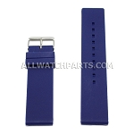 Flat Dark Blue Silicone Rubber Watch Strap (12mm-26mm)