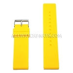 Flat Yellow Silicone Rubber Watch Strap (12mm-26mm)