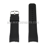 White Silicone Rubber Watch Strap with Thick Curved End (22mm-24mm)