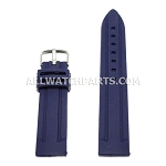 Sport Dark Blue Silicone Rubber Watch Strap (18mm-30mm)