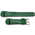 16mm Casio GLX5600-3 Green Resin Band