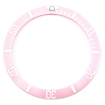 Bezel Insert To Fit Rolex Submariner - 38.0mm Pink / White Ceramic