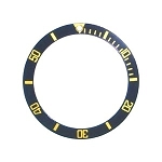 Bezel Insert To Fit Rolex Submariner - 38.0mm Black / Gold Ceramic