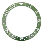 Bezel Insert To Fit Rolex GMT - 38.0mm Green / White Ceramic