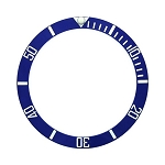 Bezel Insert To Fit Rolex Submariner - 38.0mm Blue / White Ceramic