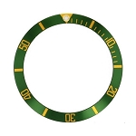 Bezel Insert To Fit Rolex Submariner - 38.0mm Green / Gold Ceramic