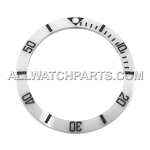 Bezel Insert To Fit Rolex Submariner - 38.0mm White / Black Ceramic