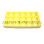 Yellow Plastic Box Organizer with 18 Compartments and Safety Lid