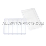 Transparent Plastic Box Organizer with 5 Small Compartments and Lid