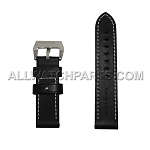 Black Panerai Style Genuine Leather Band (24mm)
