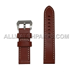 Brown Panerai Style Genuine Leather Band (24mm)