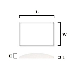 1.5mm Single Dome Rectangle Mineral Glass Crystal