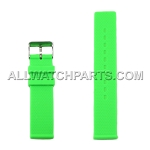 Flat Lime Green Silicone Rubber Watch Strap (12mm - 26mm)
