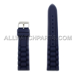 Dark Blue Silicone Rubber Presidential Style Watch Strap (16mm-26mm)