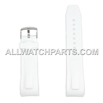 White Silicone Rubber Watch Strap (24mm)