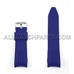 Black Silicone Rubber Watch Strap with Thick Curved End (24mm & 27mm)