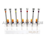 7 Piece Screwdriver Set with Acrylic Block Stand