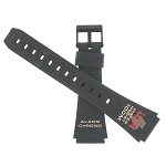 20mm Casio W721 Black Flat Watch Band