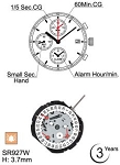 Hattori YM62 Watch Movement