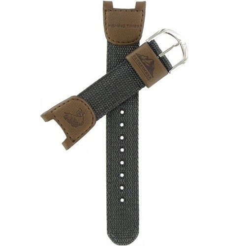25mm PAS400B Grey Casio Cloth - Leather Band