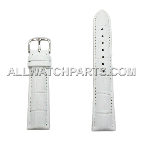 White Alligator Grain Leather Band (12mm-26mm)