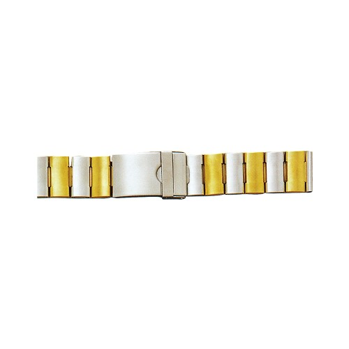 Metal Watch Band Two Tone Yellow / White Color (20mm)