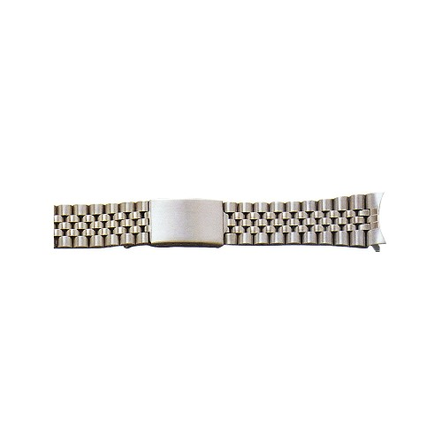 Metal Watch Band Silver Color With Curved End (20mm)