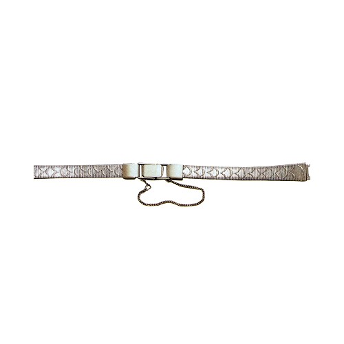 Metal Watch Band With Safety Chain Silver Color (9mm)