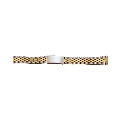 Ladies Metal Watch Band Two Tone Yellow / White Color (10mm-14mm)