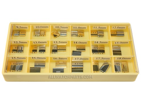 Solid Single Hole Clasp Assortment - Gold & Stainless Steel 36pcs (9.5mm-18.0mm / 0.5mm)