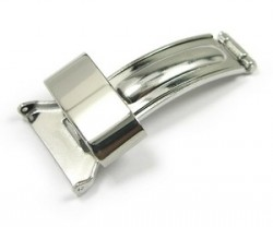 Stainless Steel Folding Clasp for Leather Straps (16mm-18mm)