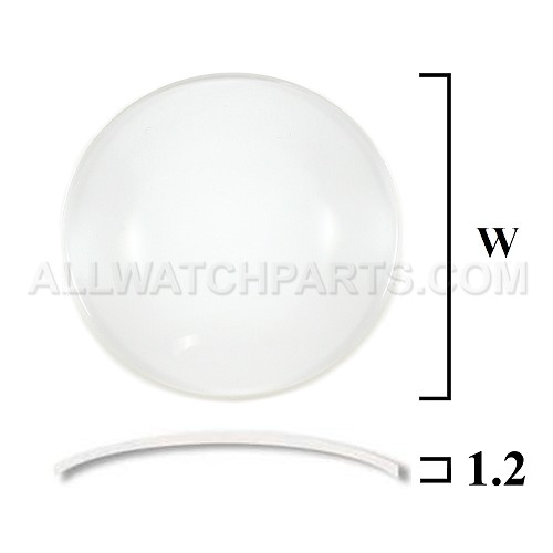 1.2mm Large Double Dome Mineral Glass Crystal (35.5mm-45.0mm / 0.5mm increment)