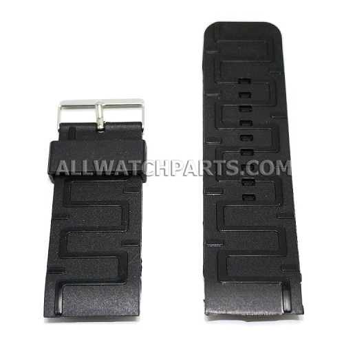 Black Silicone Rubber Watch Strap (32mm)