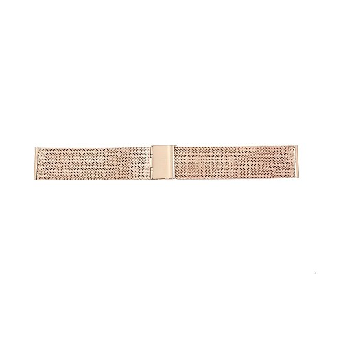 Rose Gold Stainless Steel Mesh Watch Band With Slide Clasp (18mm-22mm)