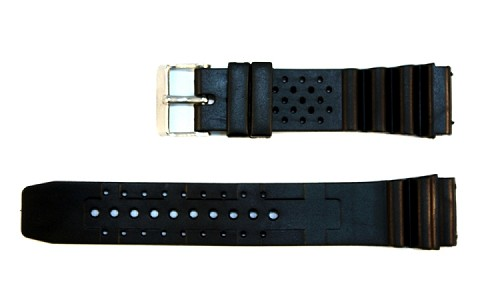 Rubber Plastic Diver Band in Casio & Seiko styles (18mm)
