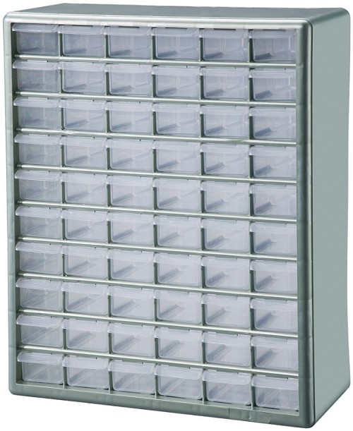 Stack-on 60 Bin Battery Organizer Cabinet
